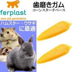 ウサギ・ハムスター用歯磨きガム真空パック キャロット型 Fa309