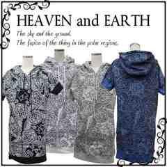 HEAVENandEARTH(ヘブンアンドアース)スウェットopパーカーワンピM総柄