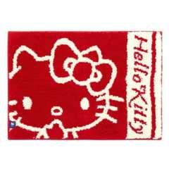 即決キティちゃん可愛い玄関バスマット赤