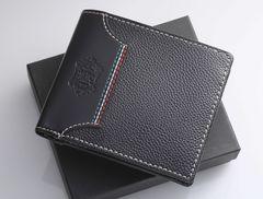 Y8916K 本物 オロビアンコ 本革 黒 二つ折 財布 未使用 美品