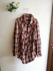 one way☆ゆるりチェックシャツ