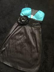 Black×Greenミニドレス
