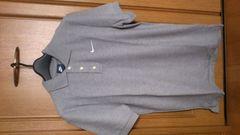 激安52%オフナイキ、定番ポロシャツ(新品タグ、ロゴ刺繍、灰、無地、M)