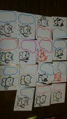 自作イラスト猫ねこちゃんメッセージ用紙15枚