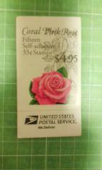 アメリカ33c切手帳(ピンクローズ$4.95)♪