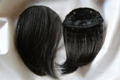 前髪ウイッグ エクステ 黒褐色またはブラウン2タイプ 1点