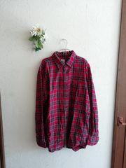 UNIQLO☆チェックネルシャツ☆赤系