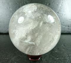 【天然石】◆クリスタル◆丸玉◆キラキラ虹入り◆開運◆直80mm◆
