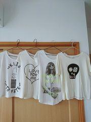 白Tシャツ  4枚