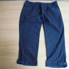 新品■3Lサイズ■裾リボン付きニットデニムパンツ■インディゴ