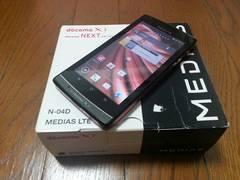即落/即発!!美中古品 N-04D MEDIAS LTE ブラック