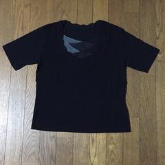 柔らかくて伸縮性抜群 重ねシフォンが素敵な半袖Tシャツ M