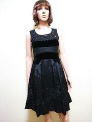 美品Chestyビジュ盛�A黒フォーマルのワンピドレスD21☆3点で即落