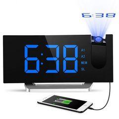 デジタル時計 目覚まし時計 天井投影 大型LED