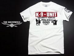 K9-UNIT 警察犬部隊 POLICEDOGモデル Tシャツ 白×黒赤 L新品