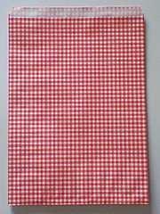 R20サイズ平袋★チェック赤20枚☆B5サイズ