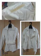 新品ライダース型ホワイトコートSTRIPCABARET