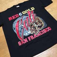 LA直輸入 黒TシャツRED&ゴールド   サイズXL  R�GSan Francisco