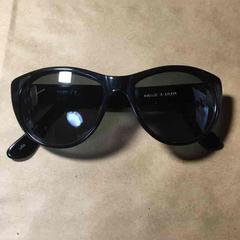 DKNY ダナキャラン セルフレーム サングラス ブラック 美品