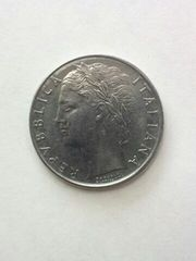 イタリア 100リラ硬貨 1959年 ステンレスコイン