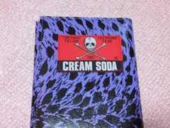 クリームソーダ紫ヒョウ柄長財布 ピンクドラゴン cream soda