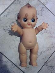 レトロなキューピー人形■35�p■鳴き人形■昭和レトロ■希少レア