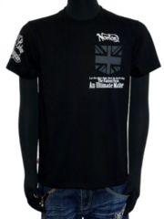 新品Norton吸水速乾フラッグポケ付クルーTシャツ黒L刺繍