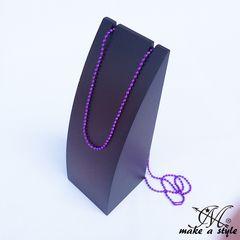 ボールチェーン ネックレス 鎖 チェーン CHAIN パープル 紫 733