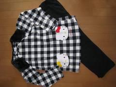 美品★ハローキティ★フリース あったか パジャマ♪150
