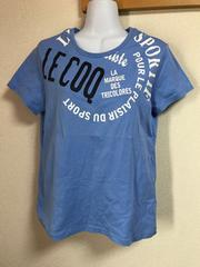 ★lecoq sportif ブルー×ロゴ入Tシャツ  O★