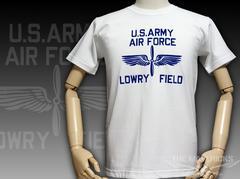 極厚 Tシャツ M フロッキー LOWRY FIELD ARMYエアフォース 白
