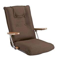 ポンプ肘式座椅子 ブラウン YS-1075D_BR