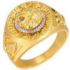 ゴールド 獅子 重厚リング 23号 新品 送料無料 16グラムラスト品