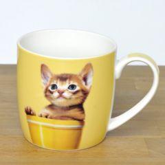 ◆【キャットマグ 4種】ネコ雑貨(イエローネコ)贈り物
