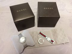 確実正規新品同様グッチGUCCI腕時計ウォッチシルバーレディース