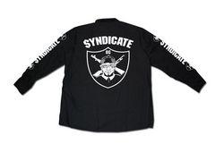SYNDICATE★OG長袖ワークシャツ★S★黒★新品