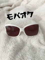 ☆愛用品★ホワイトのスッピン隠しデカサングラス☆