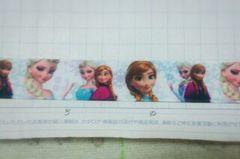sale【白*姉妹】22mm巾 アナと雪の女王柄リボン1M