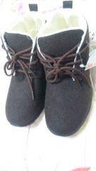 タグ付き 茶系の紐ブーツ L