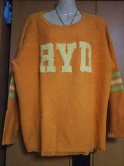 RYU SPORTS*デカロゴ刺繍BIGセーターOR