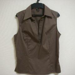 アトリエサブ M 袖なし スキッパー シャツ