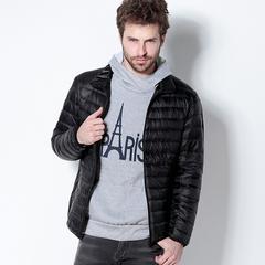 軽量 メンズ ダウンジャケット ブラック XLサイズ