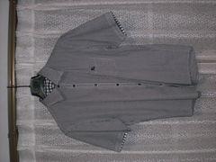 バーバリーブラックレーベル ホースマーク刺繍ギンガムチェックシャツ