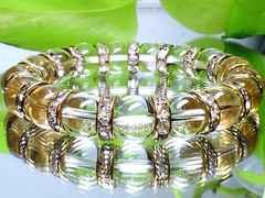 パワーストーン☆天然石!!水晶10ミリ金ロンデル数珠ブレスレット§浄化活性化