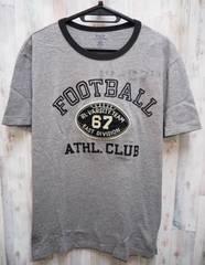 ポロ ラルフローレン フットボール 半袖Tシャツ L/グレーx黒