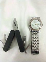 GENEVA腕時計&ミニマルチラジオペンチ2点set
