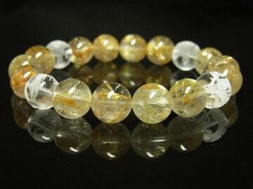 おすすめ 素彫四神獣本水晶×タイチンルチルブレスレット 10ミリ数珠
