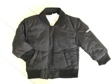 新品タグ付 中綿 ダウン コート MA-1 ブルゾン ジャケット 黒 ブラック 90