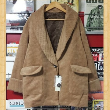 新品 bianca maria ビアンカマリア ショールカラー アウター M ジャケット コート