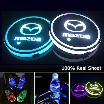 充電式 LED 車内 カップホルダー  (マツダ)